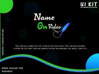 Ui Kit For Android Name On Video Indian Application