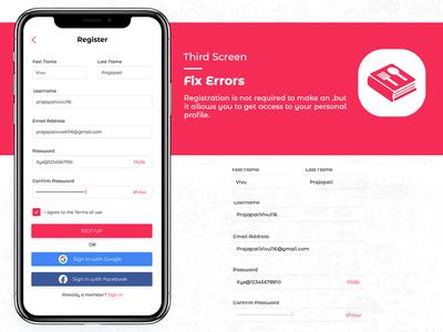 fix errors register page design