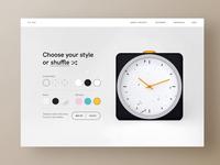 Custom Alarm Product Page ⏰