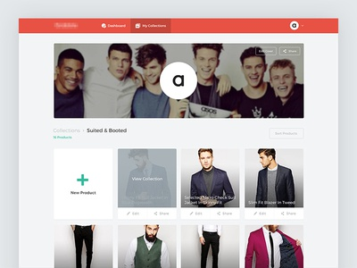 Collection Feed web fashion collection feed tiles thumbnails grid dashboard