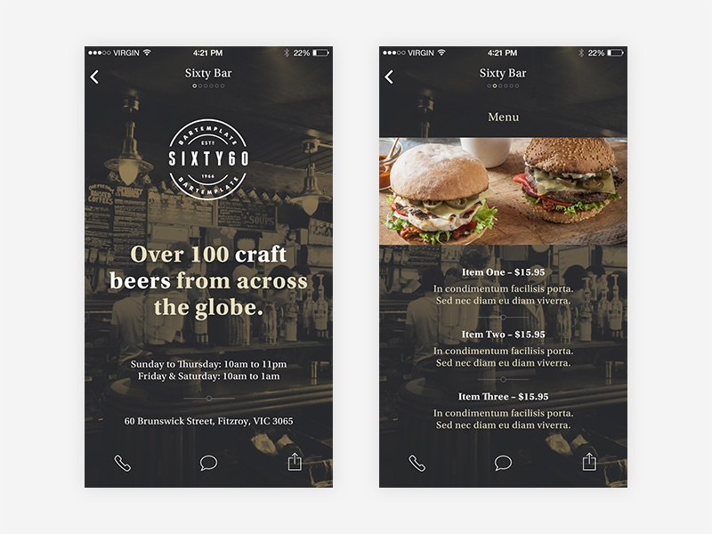 Business Directory Template business directory template ios iphone hipster vintage retro burgers beer