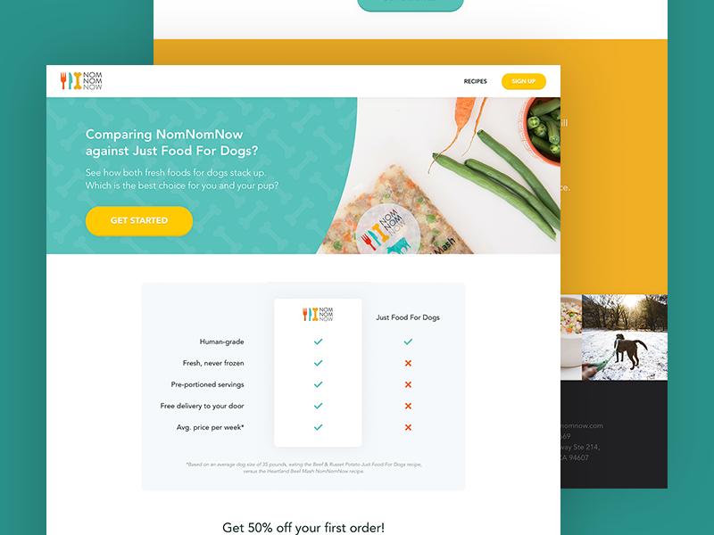 Dog Food Landing Page 🐶 interface design ui design user interface dog food landing page ui colourful marketing