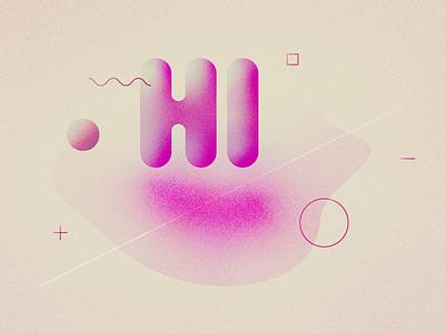 Hello Dribbble! first shot debute flat gradient abstract dribbble hello design vector illustration