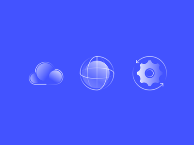 Alpha Icons / Communication setting work global cloud set communication vector business technology line future simple symbol gradient icon concept design flat abstract