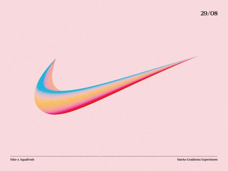 Nike x Aquafresh art colorful illustraion illustrator experiment mark logodesign logotype swoosh illustration symbol gradient concept design abstract vector aquafresh nike brand logo
