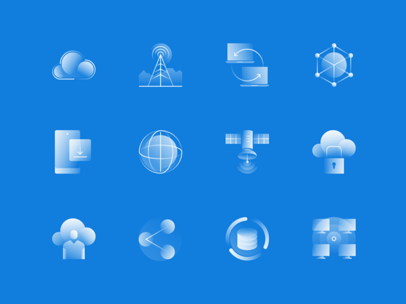 Alpha Icons / Network Set