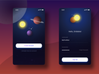 Exploring the Universe - Sign Up Form Concept