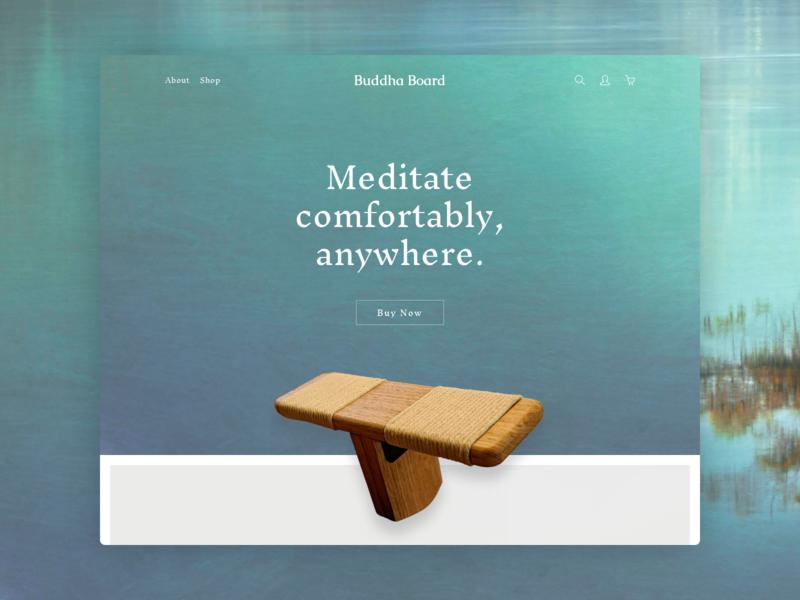 Buddha Board Product Homepage web design landing page design landing page zen meditation buddha ecommerce design ecommerce