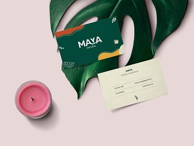 Brand Identity - Nutritionist business card concept natural logo branding brand