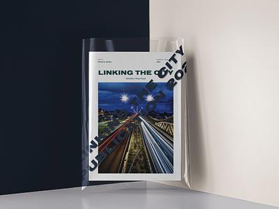 Linking the city | Hamilton Ring Road | Publication Cover waikato graphic design branding council publication cover