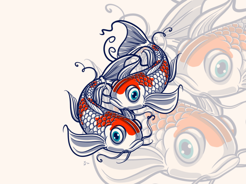 Kohaku Koi Fish tattoos pattern rotation balance yin yang tattoo lover koi tattoo koi life koi carp koi fish lover carp japanese fish kohaku koi koi fish pond