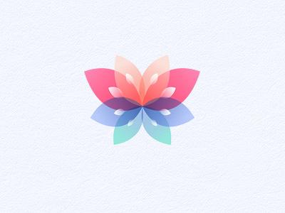 Butterfly | Flower logo butterfly flower