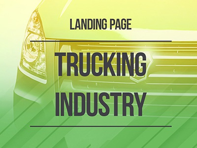 Landing page / Trucking industry truck industry landing page web