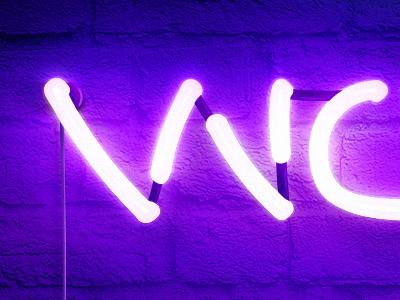 Woozy photoshop light neon