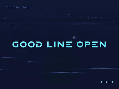 GLO (Font) font concept