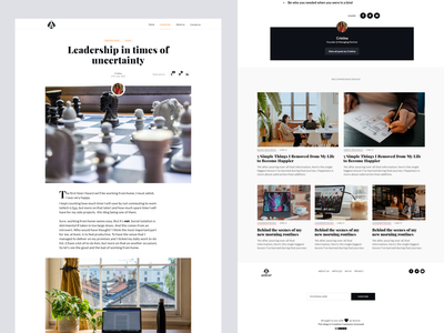 ACECAT Blog - Blog Post leadership ui design typography layout stories story news article post blog article page blog post