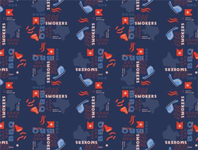 BBQ Pattern branding kansas city texas instagram 1836 smokers patriotism design pattern design bbq patriotic pattern