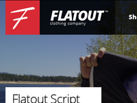 Flatout Clothing New Site Design