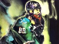 Brent Burns Sharks Hockey by Mark Gray