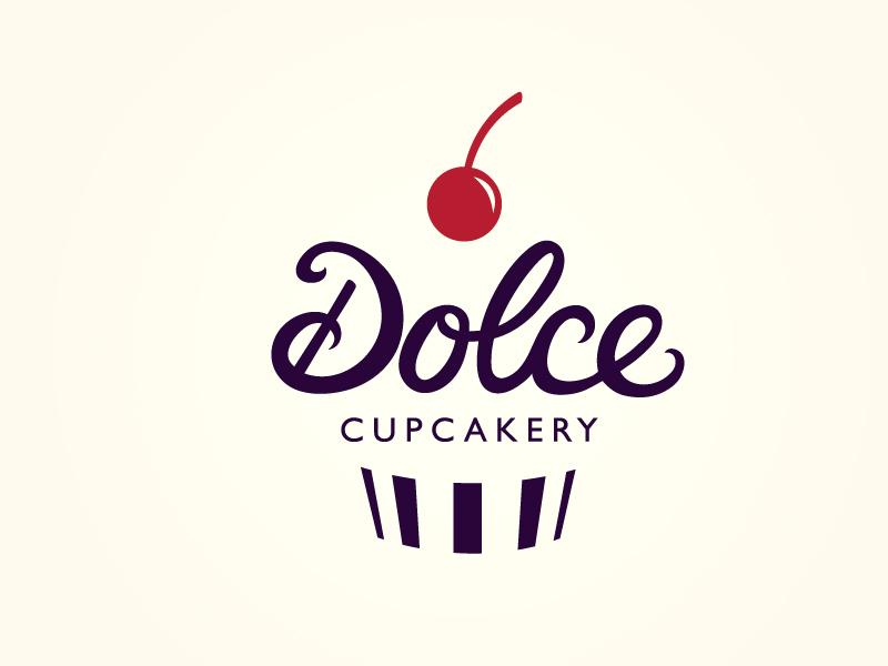 dolce cupcakery logo by mackenzi martin dribbble
