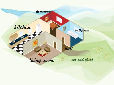 One from the Archive: House illustration vector house design illustration