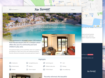 Piso Toscamar Apartment - WIP hotel apartment coast beach spain travel holiday web ui