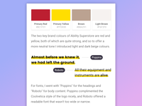 Colour Palette & Type