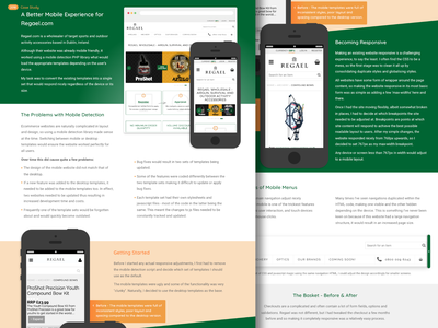 Case Study Design mobile case study responsive ecommerce ui web