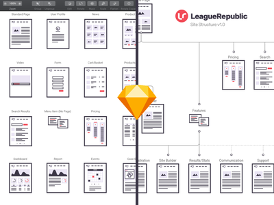 Sketch Sitemapping & User Flow Library navigation diagram plan chart vector site flow user flow sitemap library template sketch app
