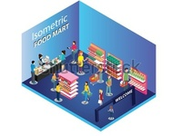 FoodMart Isometric Artwork Concept