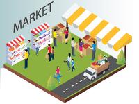 Market Isometric Concept Artwork