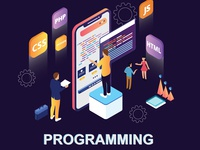 Isometric Artwork Concept of Programming