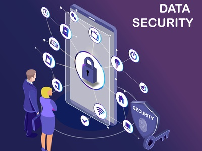 Isometric Artwork Concept of Data Protection