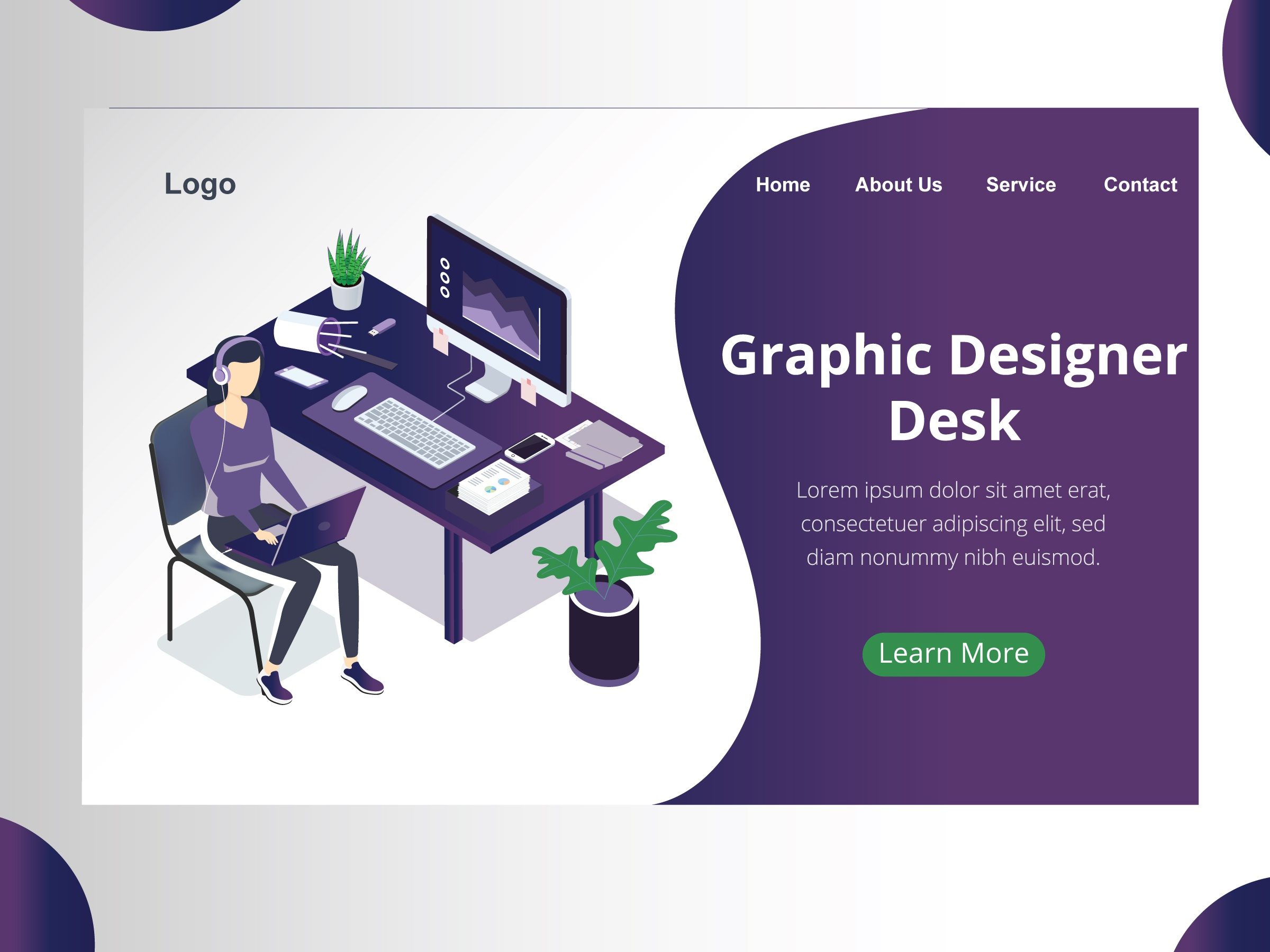 Graphic Design Desk By Isoworks On Dribbble