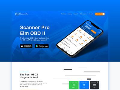 Car Scanner Website Redesign landing page design ui poland website web stylo