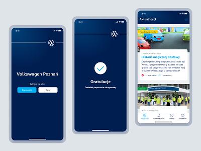 VWP concept app mobile design mobile ui vw volkswagen mobile app app design ui stylo