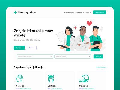 Znanylekarz.pl - redesign concept poland landing page ux ui stylo website web