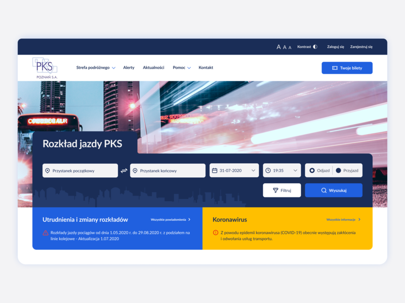 Intercity bus search redesign website ux ui redesign design website web poland stylo