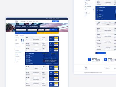 Search list PKS Poznan ux design website web poland ui stylo