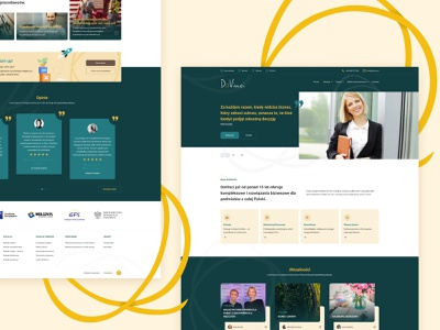 Da vinci company stylo poland ux landing page design website web ui