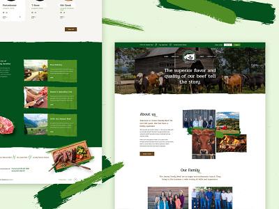 Jenner Family Beef uidesign webdesign poland beef landing page ux design website web ui