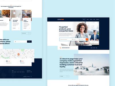 Bora Fide landing page ui design web website