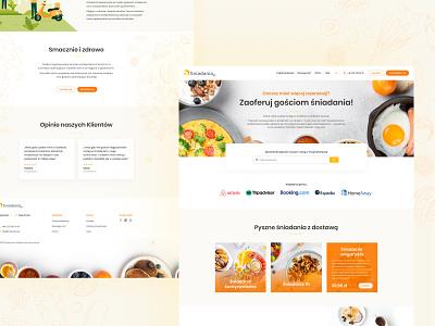 Sniadania.pl food landing page ux design website web poland stylo ui breakfast