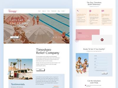 Easy Timeshare Relief landing page web design website seahawk media seahawk poland ui