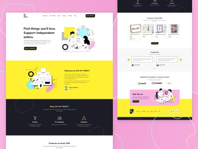 OH MY PRINT! stylo poland webdesigner ui design ux ui printing house seahawk media landing page design web website