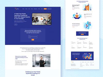 Florida Multifamily investment finance design ux seahawk media landing page website web stylo poland ui