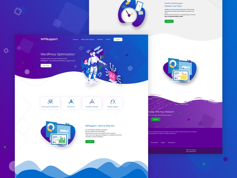WPSupport - homepage illustration vector poland stylo design ui website web