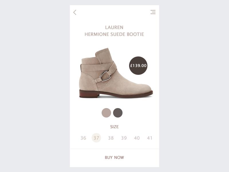 Single Product 12 daily ui 012 ecommerce app fashion app app designer product design single product illustration app design creative dailyui photoshop ui design