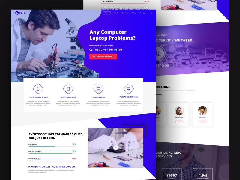 Laptop, PC, Mac, Mobile - Service Website webdesign website concept webstie website design web application design ux ui design web app design ux design ui  ux design ui concept