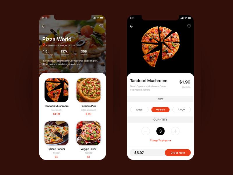 Pizza Mobile App Design design mobile application design mobile app design design concept mobile app ux ui design ux design ui  ux design ui concept
